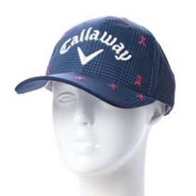 キャロウェイ Callaway メンズ ゴルフ キャップ モチーフシシュウグレンチェックプリントキャップ 2418284505