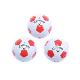 キャロウェイ Callaway ゴルフ 公認球 CHROME SOFT X TRUVIS WHITE×RED 4885980547