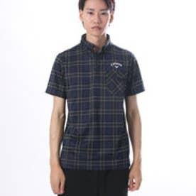 キャロウェイ Callaway メンズ ゴルフ 半袖シャツ タータンチェックジャカードB.Dカラーシャツ 7257501