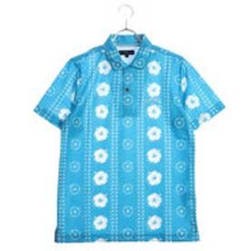 キャロウェイ Callaway メンズ ゴルフ 半袖 シャツ ハイビスカスプリント ドットメッシシャツ 2418157513