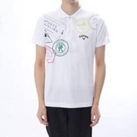 キャロウェイ Callaway メンズ ゴルフ 半袖 シャツ スタンププリントポロシャツ 2418151500