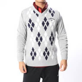キャロウェイ Callaway メンズ ゴルフ 長袖セーター アーガイルジャカードVネックニット 2418260505