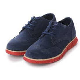 コール ハーン COLE HAAN ジュニア 短靴 ZEROGRAND OXFORD:NAVY SUEDE/RE YB1000-190 8036