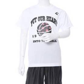 コンバース CONVERSE ジュニア バスケットボール 半袖 Tシャツ 8S JRプリントTシャツ CB481302