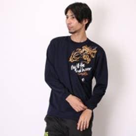 【アウトレット】コンバース CONVERSE バスケットボールTシャツ プリントロングスリーブシャツ CB252314L ネイビー (ネイビー)