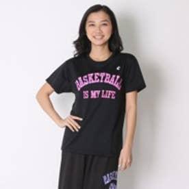 コンバース CONVERSE バスケットボールTシャツ ウィメンズプリントTシャツ CB361301    (ブラック×ピンク)