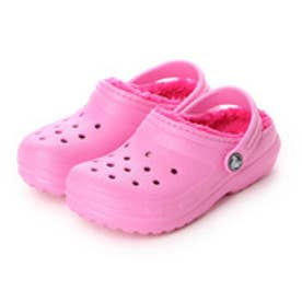クロックス crocs ジュニア サンダル Classic Lined Clog Kids 203506 (Party Pink/Candy Pink)