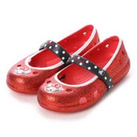 クロックス crocs ジュニア サンダル Keeley Minnie Glitter Flat Ps 202694 (Red)