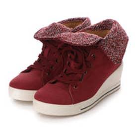 【アウトレット】ダテハキ Datehaki ブーツ ウェッジヒールショートブーツ No.3651 レッド 4342 (レッド)