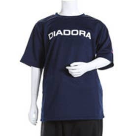 ディアドラ Diadora ジュニアテニスシャツ ジュニア マルチプラクティスシャツ AJ6338 ネイビー  (ネイビー×ホワイト)