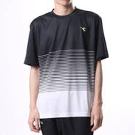 ディアドラ Diadora メンズ テニス 半袖Tシャツ ボーダートップ DTP7533