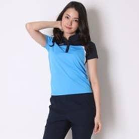 ディアドラ Diadora テニス用ポロシャツ W ゲームシャツ TL6344 ブルー (ブルーFL×ホワイト)