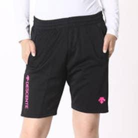デサント DESCENTE バレーボールハーフパンツ HALF PANTS DSP-1500W (ブラック×ピンク)