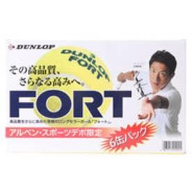 ダンロップ DUNLOP 硬式テニスボール フォート 6缶パック DFDAP6PSS (イエロー)