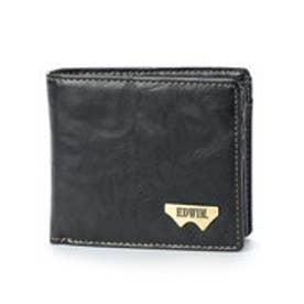 エドウィン EDWIN ポーチ グレイン合皮Wメタル二つ折財布 12289938