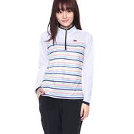 エレッセ ellesse レディース テニス 長袖 ハーフジップシャツ LSプラクティスジップアップ EW08109