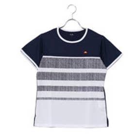 エレッセ ellesse レディース テニス 半袖 Tシャツ ツアー プラス ボーダーT EW18113