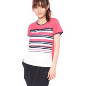 エレッセ ellesse レディース テニス 半袖Tシャツ S/Sプラクティスボーダークルー EW08328