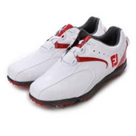 フットジョイ FootJoy ゴルフシューズ 16 EXL スパイクボア 45140W245 90 (ホワイト×レッド)