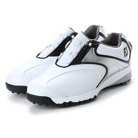 フットジョイ FootJoy メンズ ゴルフ ダイヤル式スパイクシューズ 18 ウルトラFIT ボア アスレ WT/BK 9248856109 2