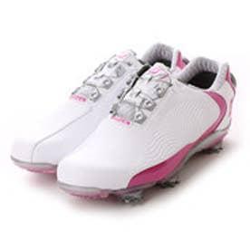 フットジョイ FootJoy ゴルフシューズ 16 WO DNAボア WT/FU 94827W225 103 (ホワイト×ピンク)