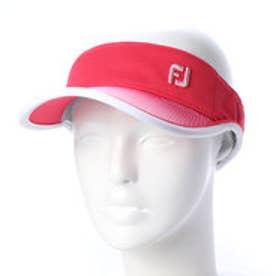 フットジョイ FootJoy レディース ゴルフ サンバイザー FJ WOメッシュPRINTバイザー 9683210277 (レッド)