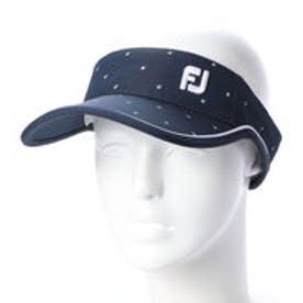 フットジョイ FootJoy レディース ゴルフ サンバイザー FJ WOスクエアPRINTバイザー 9683210239 (ネイビー)