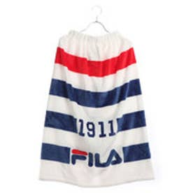フィラ FILA ジュニア 水泳 ラップタオル FILAボーダーふわもこ巻タオル80cm丈 128401