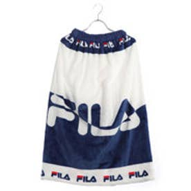フィラ FILA ジュニア 水泳 ラップタオル FILAロゴ柄ふわもこ巻タオル80cm丈 128402