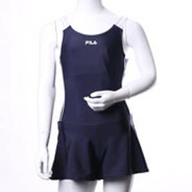 フィラ FILA ジュニア 水泳 スクール水着 タンクトップビキニキュロットパンツタイプ 124685【返品不可商品】