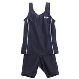 フィラ FILA ジュニア 水泳 スクール水着 メクレ防止機能付 タンキニ 女児用 125686【返品不可商品】