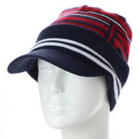フィラ FILA メンズ ゴルフ ニット帽子 つば付きビーニー 788921 (ネイビー)