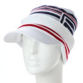 フィラ FILA メンズ ゴルフ ニット帽子 つば付きビーニー 788921 (ホワイト)