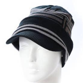 フィラ FILA メンズ ゴルフ ニット帽子 つば付きビーニー 788921 (ブラック)