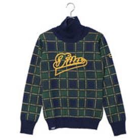 フィラ FILA レディース ゴルフ 長袖セーター ネックウォーマー付きセーター 798702 (ネイビー)