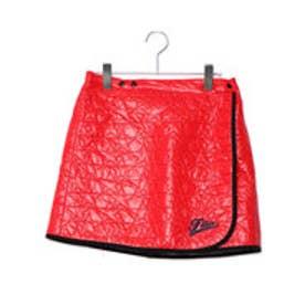 フィラ FILA レディース ゴルフ ウインドスカート 巻きスカート 798935 (レッド)