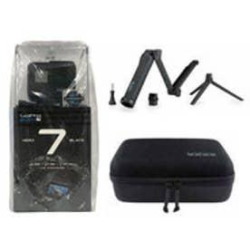 ゴープロ GoPro HERO7 Black バンドルセット HERO7 Black 3-way ケイシー 3点セット (CHDHX-701) カメラ