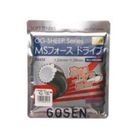 ゴーセン GOSEN 軟式テニス ストリング MSフォース ドライブ ディープブラック SS432DBK