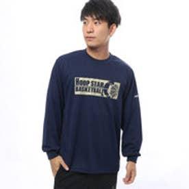 フープスター Hoopstar ユニセックス バスケットボール 長袖Tシャツ ロンT TLHS154-N (ネイビー)