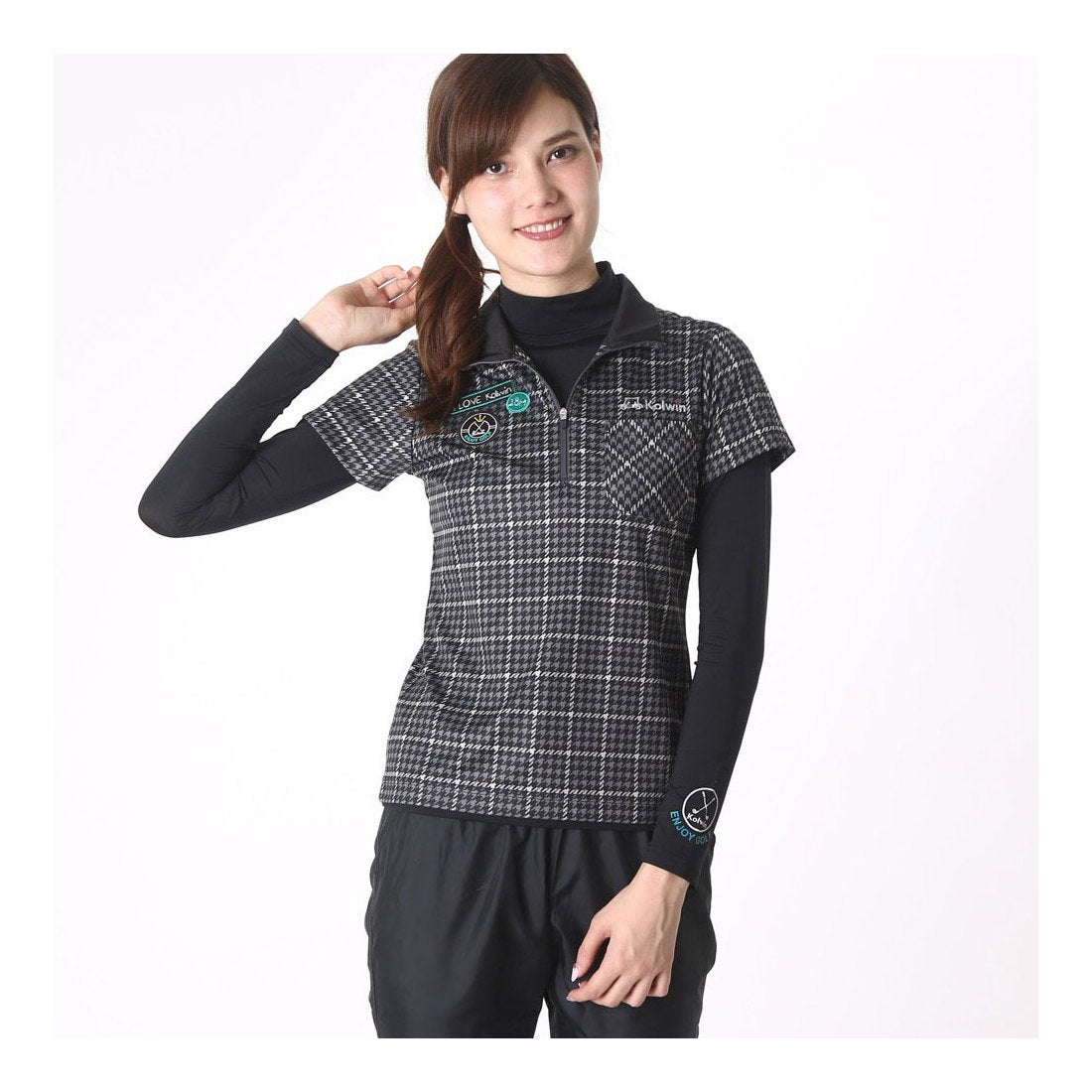 ロコンド 靴とファッションの通販サイトコルウィン Kolwin レディース ゴルフ セットシャツ (長袖インナーシャツ&半袖シャツ) KO-1L2546RYZ