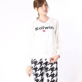 コルウィン Kolwin レディース ゴルフ 長袖ウインドブレーカー KO-1W2566V (ホワイト)