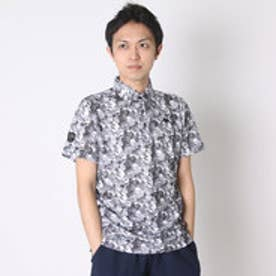 【アウトレット】カッパ Kappa ゴルフシャツ 半袖シャツ(幾何学柄) KG612SS41 (ブラック)