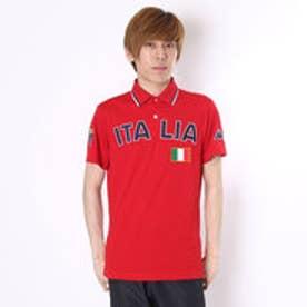 【アウトレット】カッパ Kappa ゴルフシャツ 半袖シャツ(ITALIA胸ワッペン) KG612SS54 (レッド)