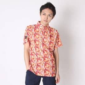 【アウトレット】カッパ Kappa ゴルフシャツ 半袖シャツ(幾何学柄) KG612SS41 (オレンジ)