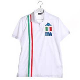 【アウトレット】カッパ Kappa ゴルフシャツ 半袖シャツ(ITALIAニットテープ) KG612SS52 (ホワイト)