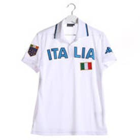【アウトレット】カッパ Kappa ゴルフシャツ 半袖シャツ(ITALIA胸ワッペン) KG612SS54 (ホワイト)