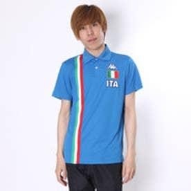 【アウトレット】カッパ Kappa ゴルフシャツ 半袖シャツ(ITALIAニットテープ) KG612SS52 (イタリアンブルー)