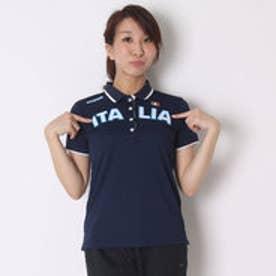 カッパ Kappa ゴルフシャツ 半袖シャツ(ITALIA胸ワッペン) KG622SS83 (ネイビー)