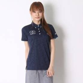 カッパ Kappa ゴルフシャツ 半袖シャツ(ボタンダウンジャガード) KG622SS71 (ネイビー)