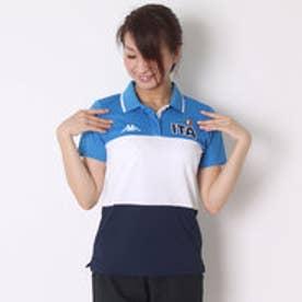 カッパ Kappa ゴルフシャツ 半袖シャツ(ITALIAボーダー) KG622SS81 (ネイビー)